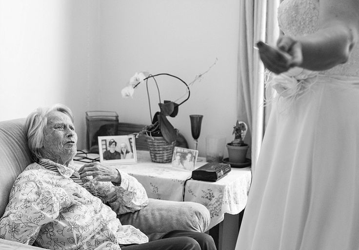 Very emotional moment Bride visited all her patients at the nursing home she works at.  This lady burst into tears upon seeing the bride. I couldn't stop crying. Debbie Lourens Photography Emotional photojournalism
