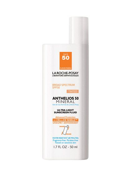 La Roche-Posay Anthelios Mineral Tinted Ultra Light Sunscreen Fluid SPF 30 was named on of The 10 Best Sunscreens for Summer 2013 from Allure #sunscreen