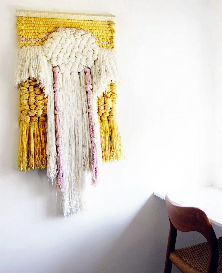 Tapiz tejido a mano con telar #weaving