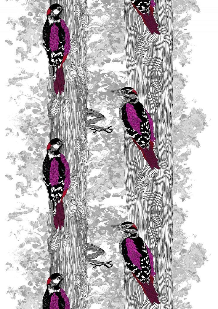 Metsärumpu Valmisverho - Valmisverhot - Verhot - Vallilan  verkkokauppa  Tästä taulu makkariin tai olohuoneeseen