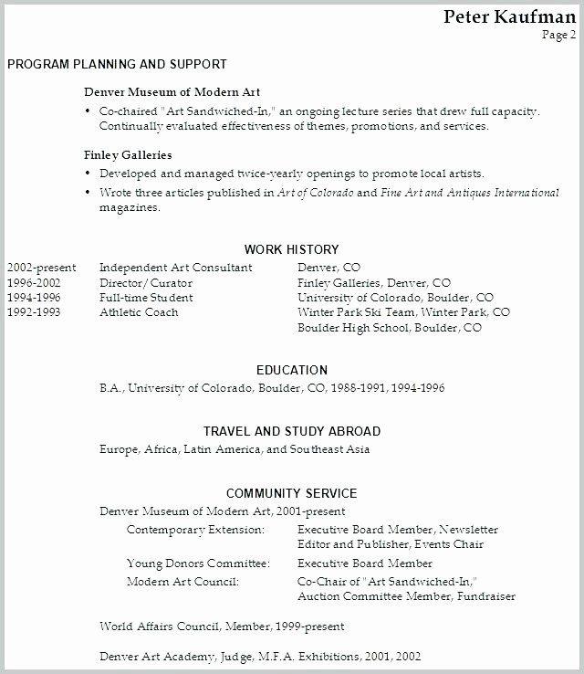 Performing Arts Resume Template Lovely Munity Service Resume Template Stagingusasportfo Sample Resume Education Resume Teacher Resume Examples