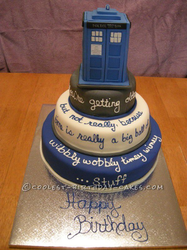 32 best cool birthday cake ideas images on Pinterest Dr who cake