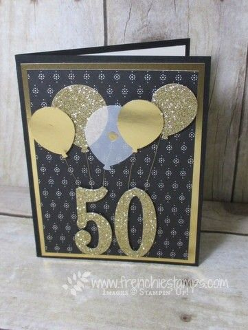 Hello Stampers Well I think turning 50 and getting a gold card like this would make it okay to see the number 50 don't you think? I know I'm a weird one but I love switching number when I turn 40 I t