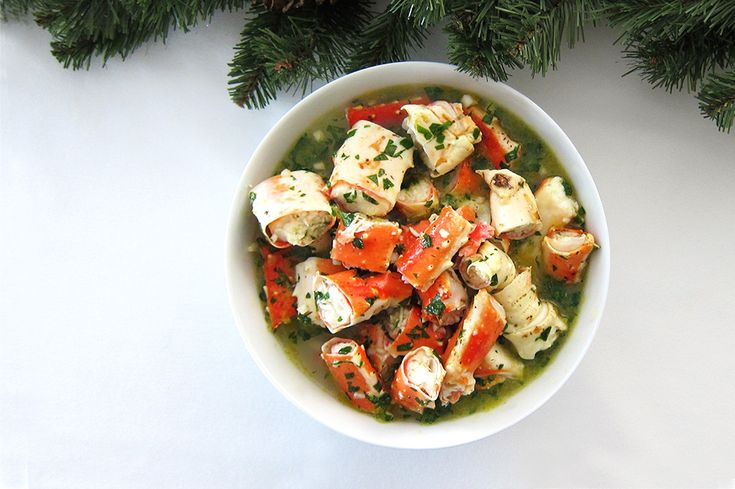 A recipe for crab salad: naturally Paleo, AIP-friendly, and Whole 30-friendly. It's easy, healthy, and packed with flavor! A Christmas Eve seafood favorite.