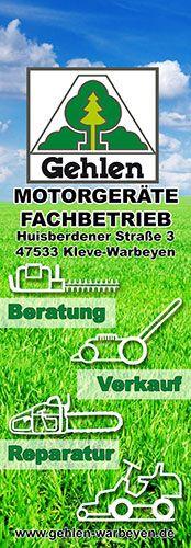 Motorgeräte Gehlen Kleve-Warbeyen - Abreiß-Flyer für eine Flyerwand