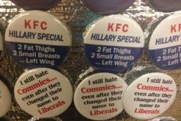Republican Convention Features Sexist Anti-Hillary Buttons: '2 Fat Thighs, 2 Small Breasts'  But Republicans definitely don't have a woman problem, right?