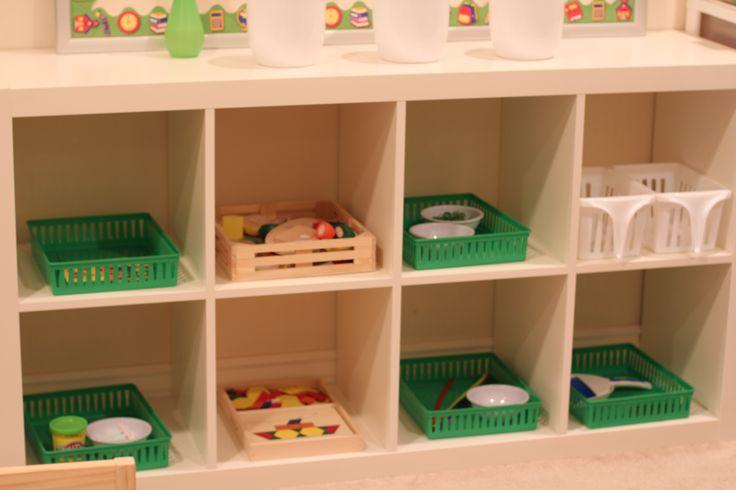 Montessori trays for St. Patrick's Day