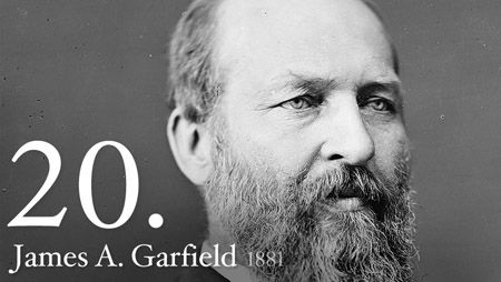 James Garfield - As the last of the log cabin Presidents, James A. Garfield attacked political corruption and won back for the Presidency a measure of prestige it had lost during the Reconstruction period.