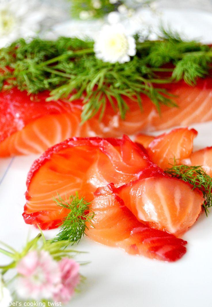 Beet-Cured Salmon Gravlax with Horseradish