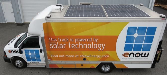 Solar-powered auxiliary power units are one new way trucks can reduce idling, save money and conserve fuel. | Sustainable America #iturnitoff