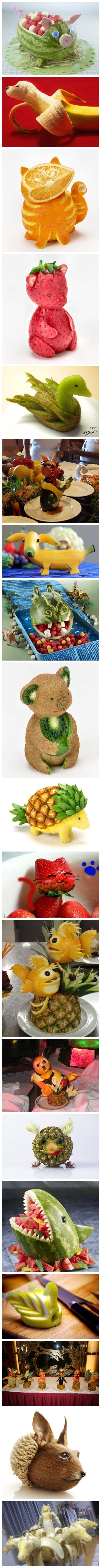 Fruit Carving Fun - When Creativity Meets Fruits   DIY Tag