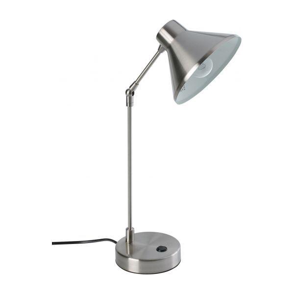 Bobby Lampe De Bureau 54cm En Metal Argente Table Lamp Desk