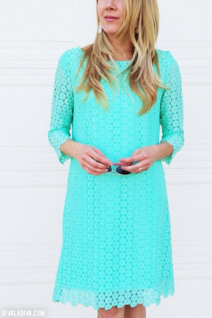 DIY Juicy Couture inspired Lace Mint Dress Tutorial by Riva La Diva