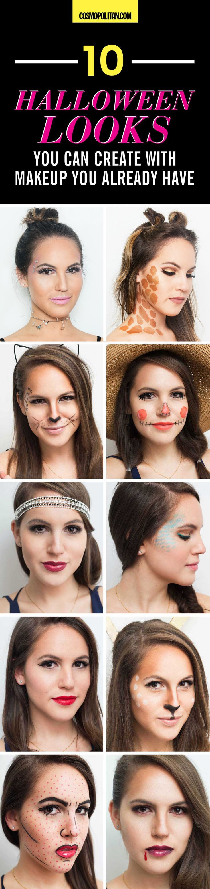 To Halloween Looks You Can Create With Makeup You Already Have
