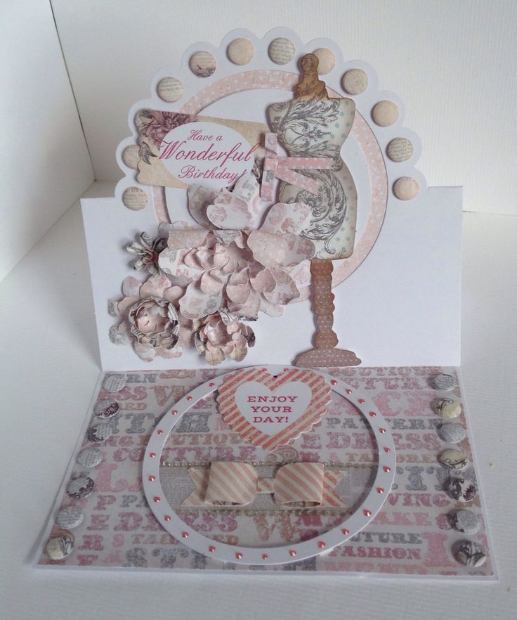 Card designed by Neil Burley using Paper Couture Kit and Easel Frame cards.