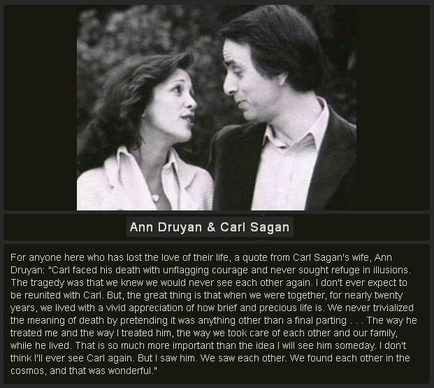 Good Ann Druyan On The Loss Of The Love Of Her Life, Carl Sagan (text