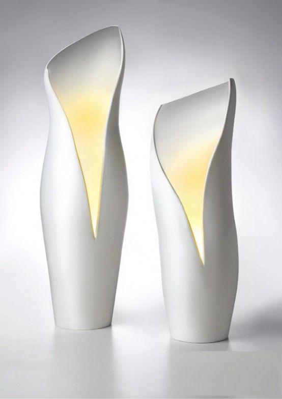 Italian designer T.Menozzi has created lovely collection of ceramic lamps for Mamati.