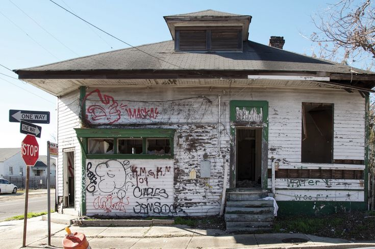 10 years after the storm: has New Orleans learned the lessons of Hurricane Katrina? An abandoned building in Lower Ninth. Photograph: Seph Lawless