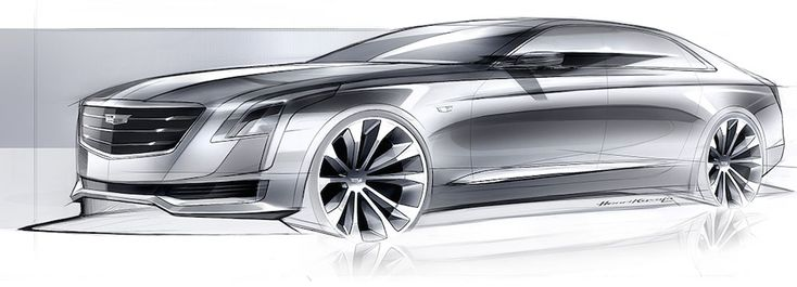 Early rendering of the #Cadillac CT6