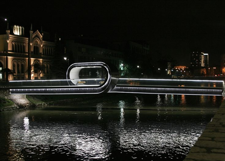 Festina Lente looping bridge at Academy of Fine Arts in Sarajevo