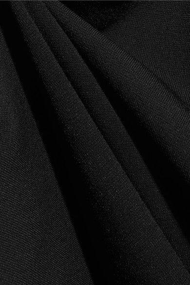 Esteban Cortazar - Peace Sign Open-back Stretch-knit Maxi Dress - Black - x large