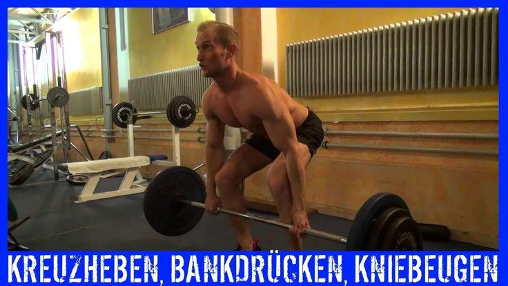 Bodybuilding Training - Bankdrücken, Kniebeugen, Kreuzheben - KARL-ESS.COM