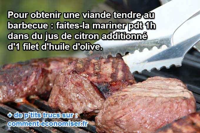 On aime tous faire un barbecue entre amis. Mais il n'est pas facile d'obtenir une viande tendre, qui ne sèche pas.  Découvrez l'astuce ici : http://www.comment-economiser.fr/viande-barbecue-citron-olive.html?utm_content=buffereb2fe&utm_medium=social&utm_source=pinterest.com&utm_campaign=buffer