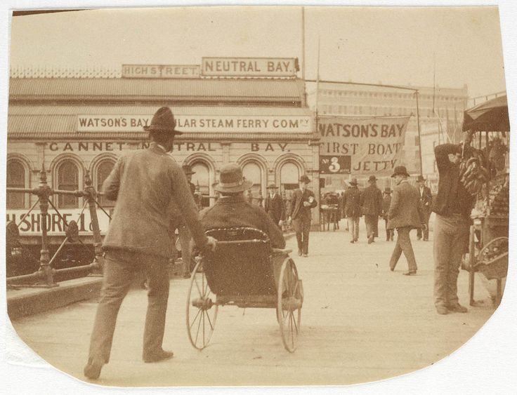 People at Circular Quay Sydney, ca. 1885-1890 / photographed by Arthur K. Syer. Australia
