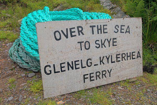 Glenelg ferry to Skye.