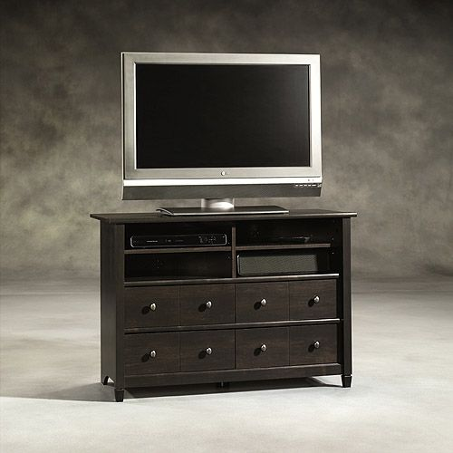 Sauder Edge Water Tall TV Stand for TVs up to 45   Estate Black. 17 Best ideas about Tall Tv Stands on Pinterest   Tall tv cabinet