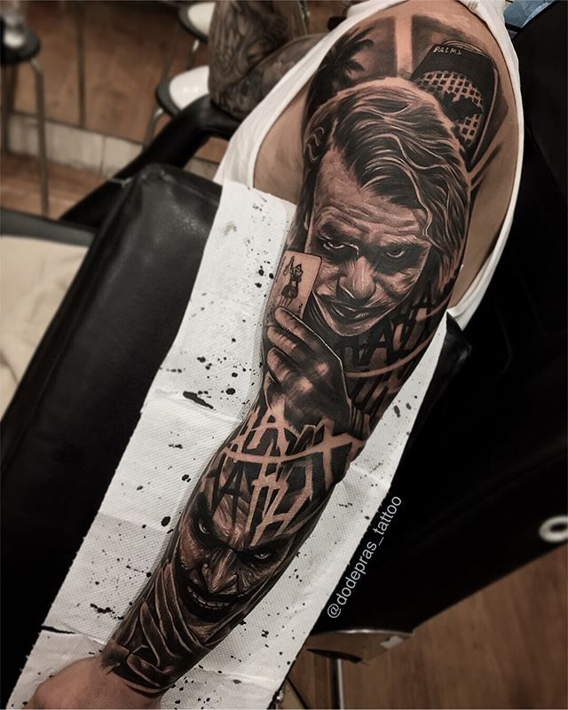 Joker Done Today I Did 7hour For This Sleeve But Without