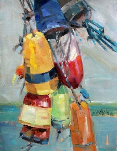 Bouy Bouquet - colorful boat bouys & floats -- Mary Maxam