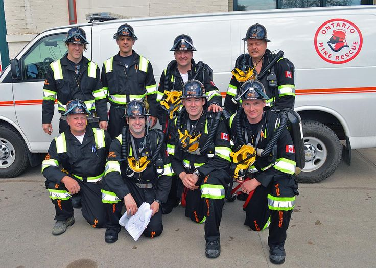 2015 Ontario Mine Rescue Provincial Competition Champions:  Vale Sudbury West Mines