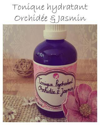 Après la crème, voici la recette du Tonique hydratant Orchidée & Jasmin. En plus d'être efficace, il sent délicieusement bon ! #Recette #CosmétiqueDIY #homemade #Beauté #Tonique #Orchidée #Jasmin