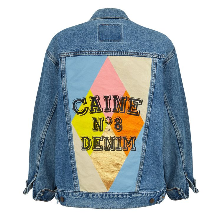 New Fashion label Caine London create one of a kind, hand painted, vintage denim jacket. From the'Dream Boats' series.