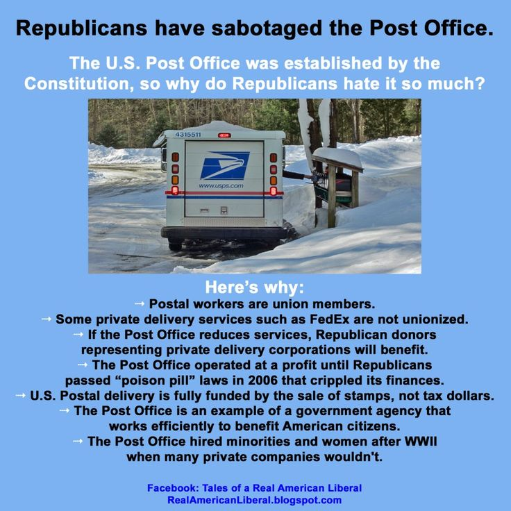 The Republican war on the Post Office boils down to the same typical problems with the Republican Party: hatred of effective government and a fetish for corporate profit over workers' rights. Pay attention, people!!!! This is  part of the same war on the middle class..