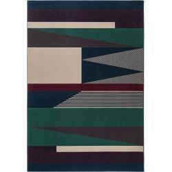 benuta Kurzflor Teppich Dessert Blau/Grau 120x170 cm - Moderner Teppich für Wohnzimmer benuta