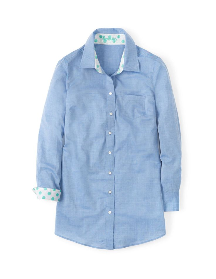 Boden white long line shirt. A twist on a classic.