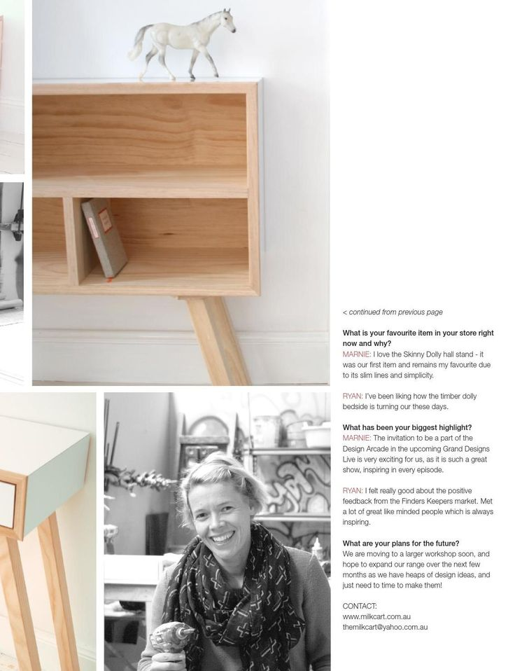 Marnie and Ryan from Milkcart featured in Winkelen September issue 2014!