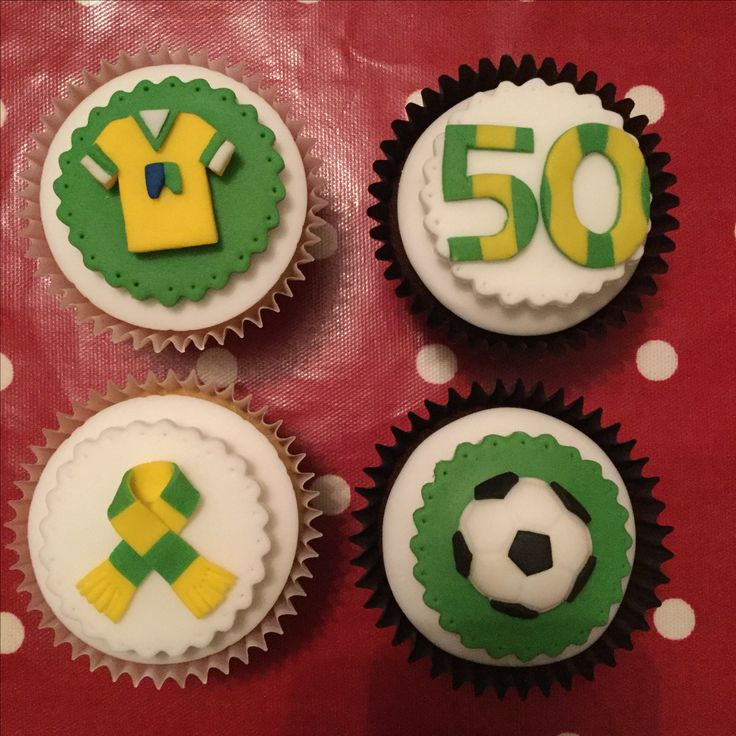 Norwich Football Club themed cupcakes - 30.09.17