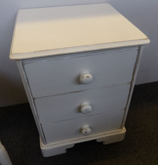 Bedside £60  ----------- The RGF Restoration Team is the South East's leading furniture up-cycling company. Our skills include upholstery, restoration, and paint effect including shabby chic, farmhouse distress and French provincial.