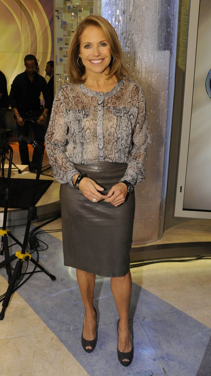 Lovin Katie Couric S Look She S Wearing A Python Print
