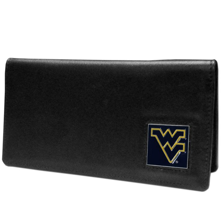 """Checkout our #LicensedGear products FREE SHIPPING + 10% OFF Coupon Code """"Official"""" W. Virginia Mountaineers Leather Checkbook Cover - Officially licensed College product Genuine fine grain leather Fits top and side loaded checkbooks Plastic sleeve for duplicate check writing Metal W. Virginia Mountaineers emblem with enameled team colors - Price: $22.00. Buy now at https://officiallylicensedgear.com/w-virginia-mountaineers-leather-checkbook-cover-cnc60bx"""