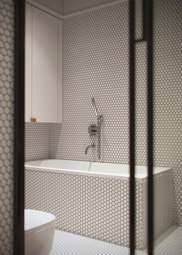 Light And Modern Sophistication In A Two Bedroom Apartment Bathroom