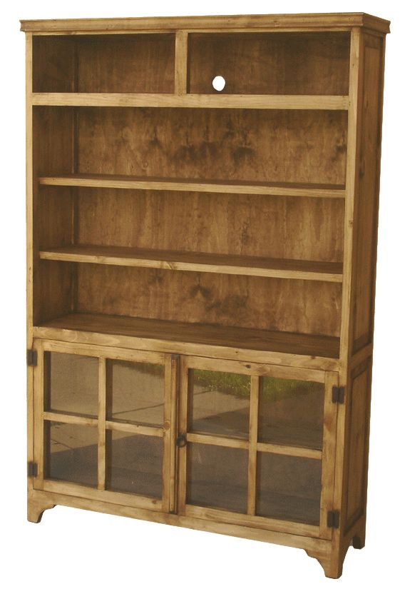 Merida Rustic Pine Wood Bookcase