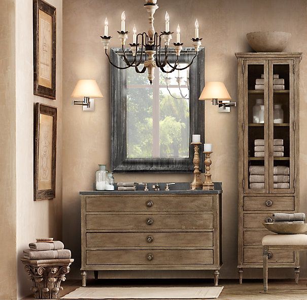 Baroque weathered zinc mirrors master bedroom remodel for Baroque leaner mirror