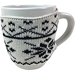 Ugly Christmas Sweater Mug With a Knitted Sweater White