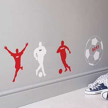 Personalised Football Wall Sticker by the bright blue pig not on the high street