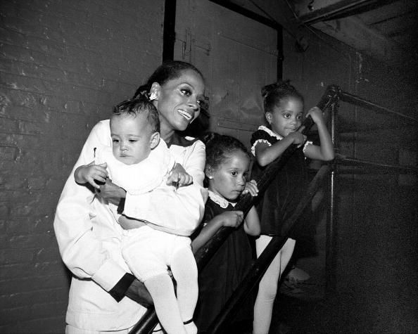Diana Ross at the Palace Theatre in Manhattan in 1976 with her daughters, Rhonda Ross Kendrick, Tracee Ellis Ross and Chudney Ross, owner of Books and Cookies LA. Photo by Richard Corkery/NY Daily News Archive via Getty Images.