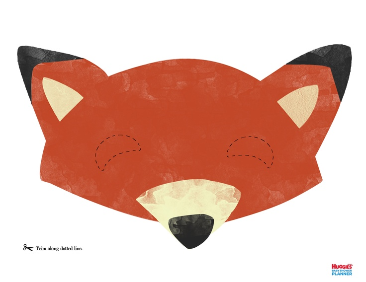 Fox Mask Printable. Bring out your wild side by creating a fun fox mask. This is perfect for the smile booth!